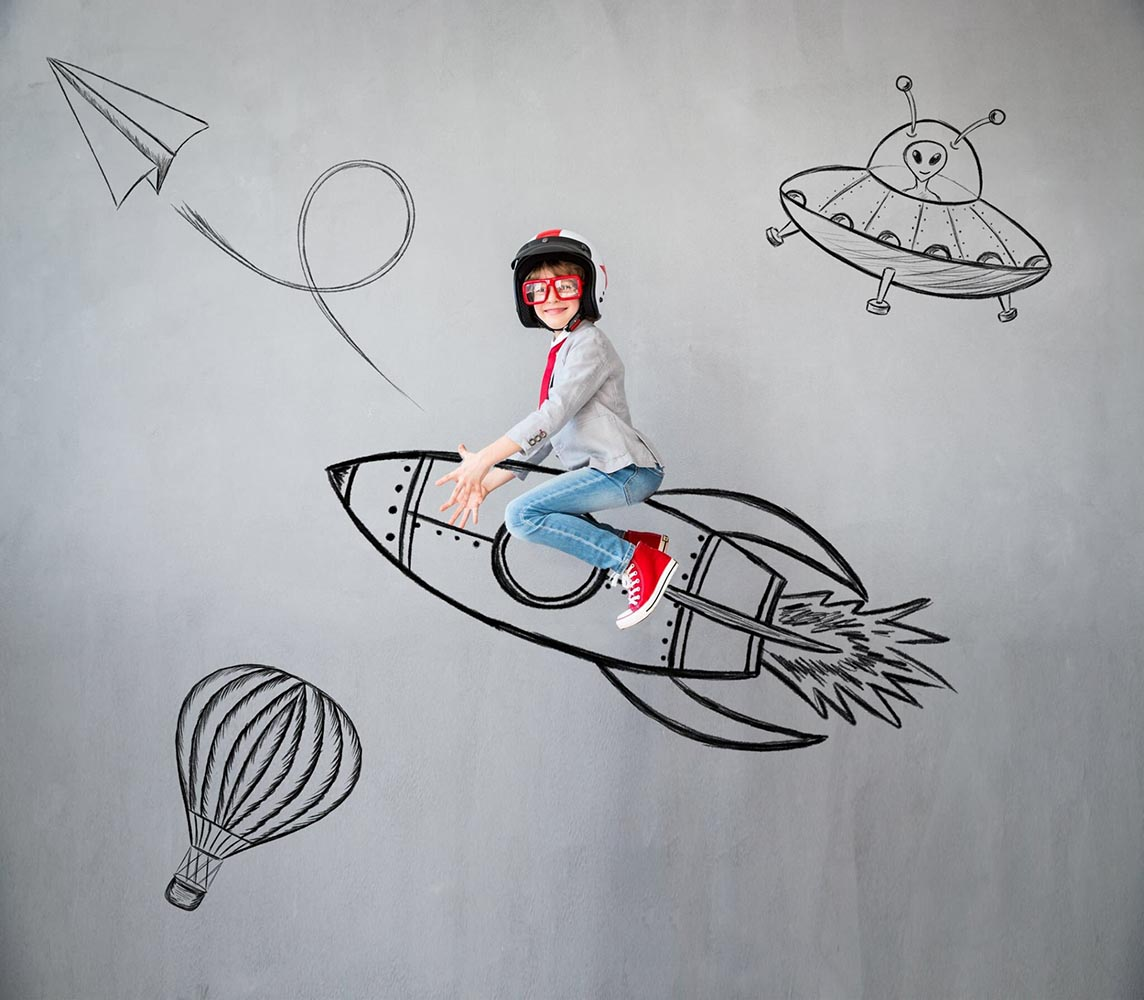 Child Flying to Dreams